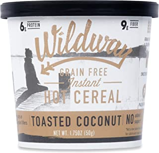 product image for Wildway Vegan, Keto Hot Cereal Cups | Toasted Coconut | Certified Gluten Free Instant Breakfast Cereal, Low Carb Snack | Grain-Free, Keto, Paleo, Non-GMO, No Artificial Sweetener | 6 pack