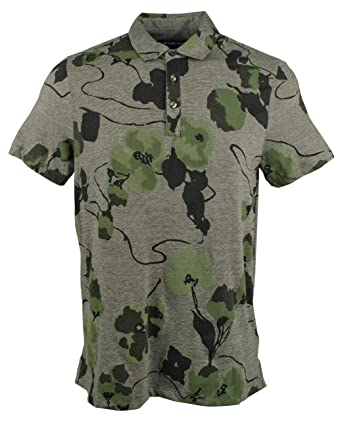 Michael Kors Mens Floral Fatigue Polo Shirt: Amazon.es: Ropa y ...