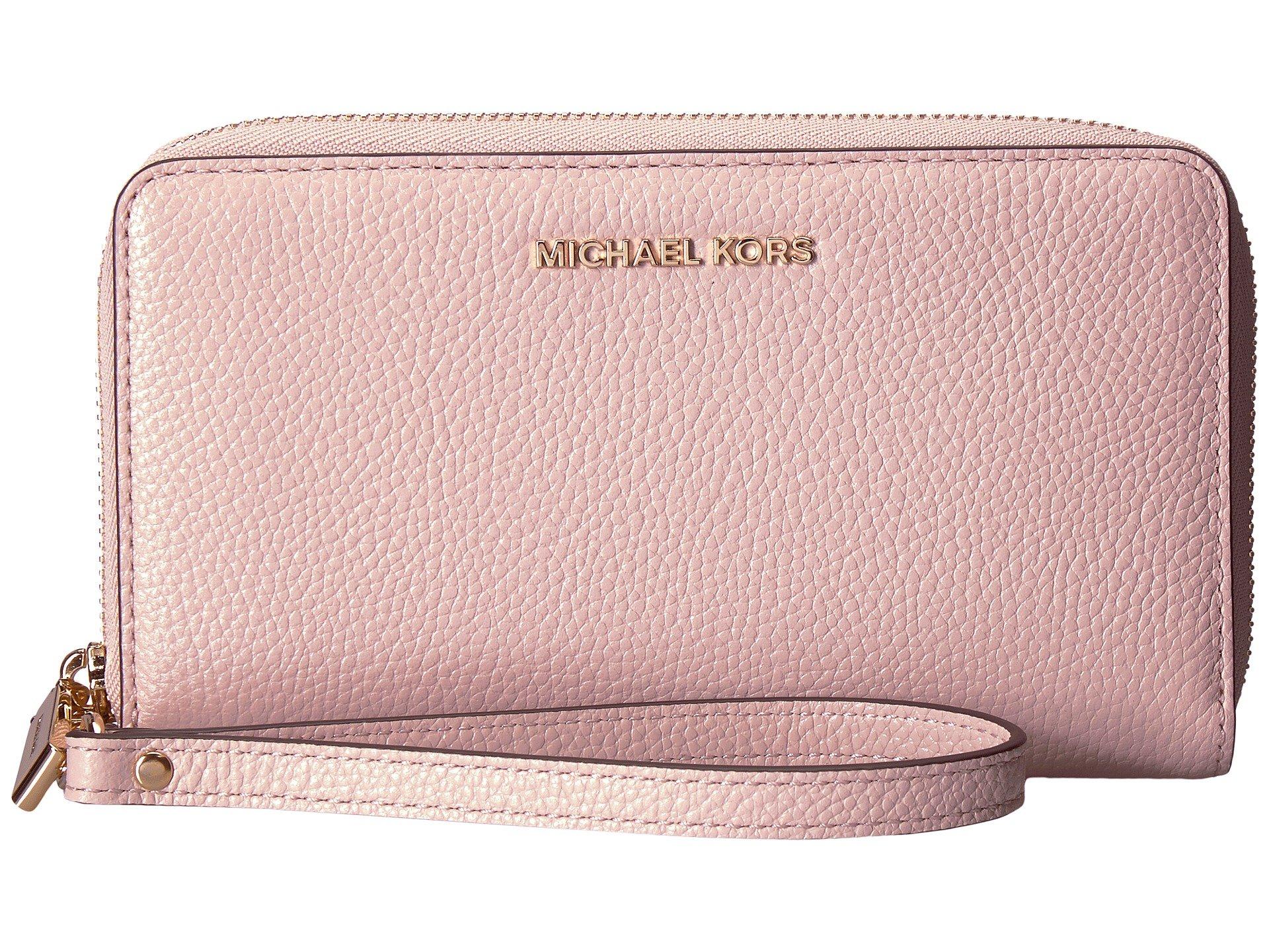MICHAEL Michael Kors Women's Large Flat Phone Wristlet, Soft Pink, One Size by Michael Michael Kors