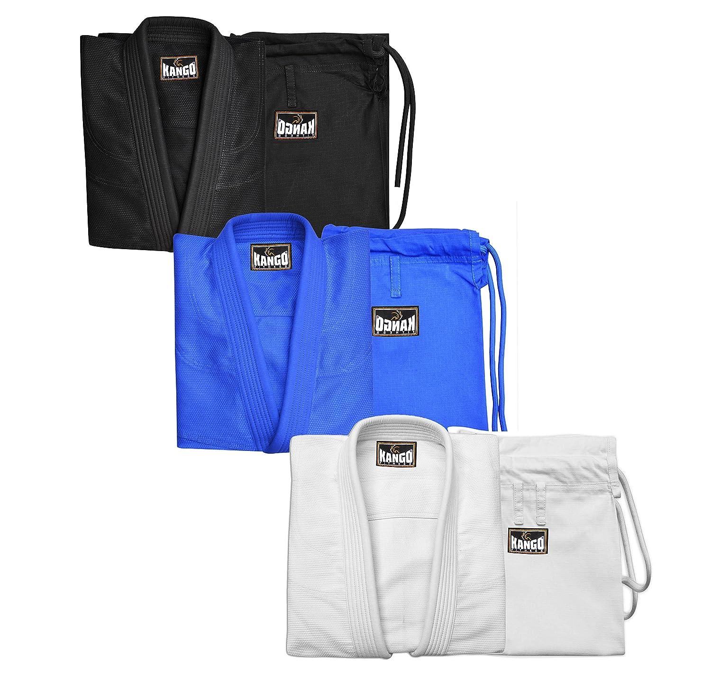 Kango Fitness Light BJJ Jiu Jitsu Gi with Preshrunk Fabric With Free White Belt BJJ-002