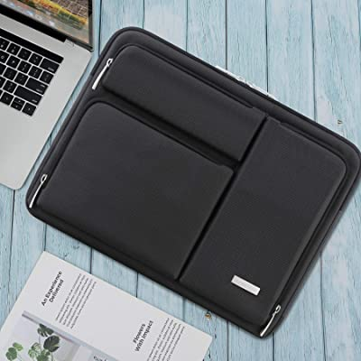Waterproof cover with Pocket,Black Ferkurn 14-15.6 Inch Laptop Sleeve Case Protective Bag with Handle Compatible with MacBook Pro 16//14 15 15.6 XPS HP Asus Acer Chormebook Notebook Inspiron 15.6