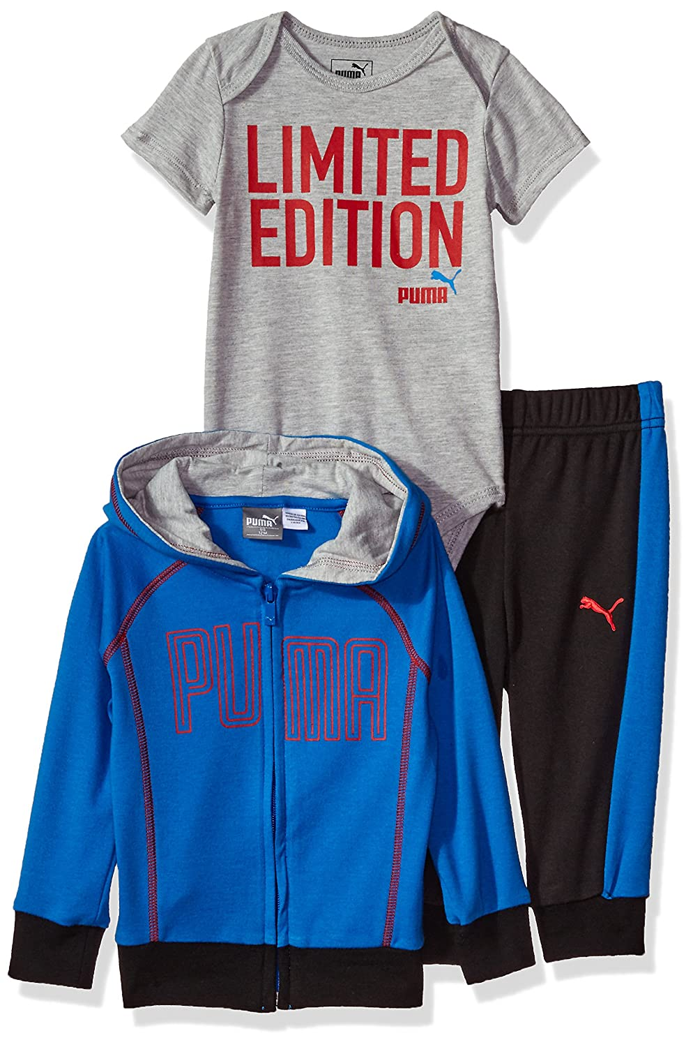 PUMA Baby Boys Three Piece Interlock Set