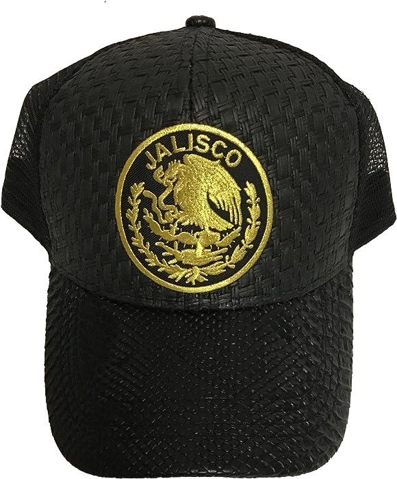 Jalisco Logo Federal hat Gorra De Palma Visera De Piel Mesh Snapback at Amazon Mens Clothing store: