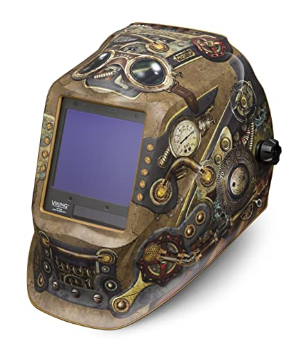 Lincoln Welding Helmet 3350 >> Lincoln Electric Viking 3350 Steampunk Welding Helmet With 4c Lens Technology K3428 3