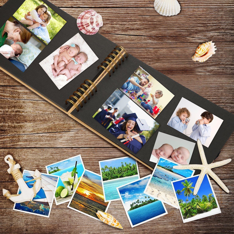 80 Pages, 40 Feuilles Famille Amis Bande de Dentelle d/écorative Enfants Koooper Album Photo DIY Autocollants Scrapbook Cadeau pour Un Souvenir damour avec des Ciseaux