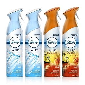 Febreze Air Freshener, Linen & Sky and Hawaiian Aloha scents