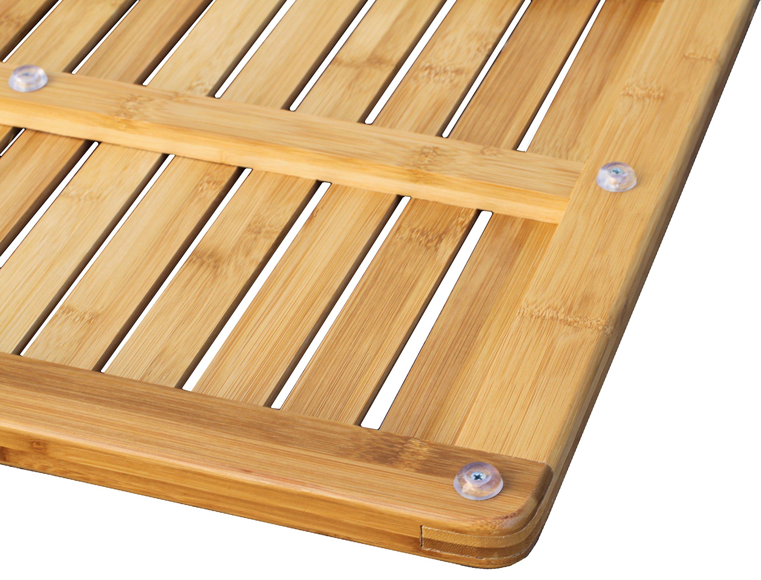 Bamboo Floor And Shower Mat Oceanstar FM1163 Bath Elevated