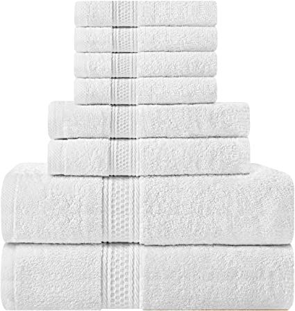 Utopia Towels - Juego de toallas de 8 piezas; 2 toallas de baño, 2
