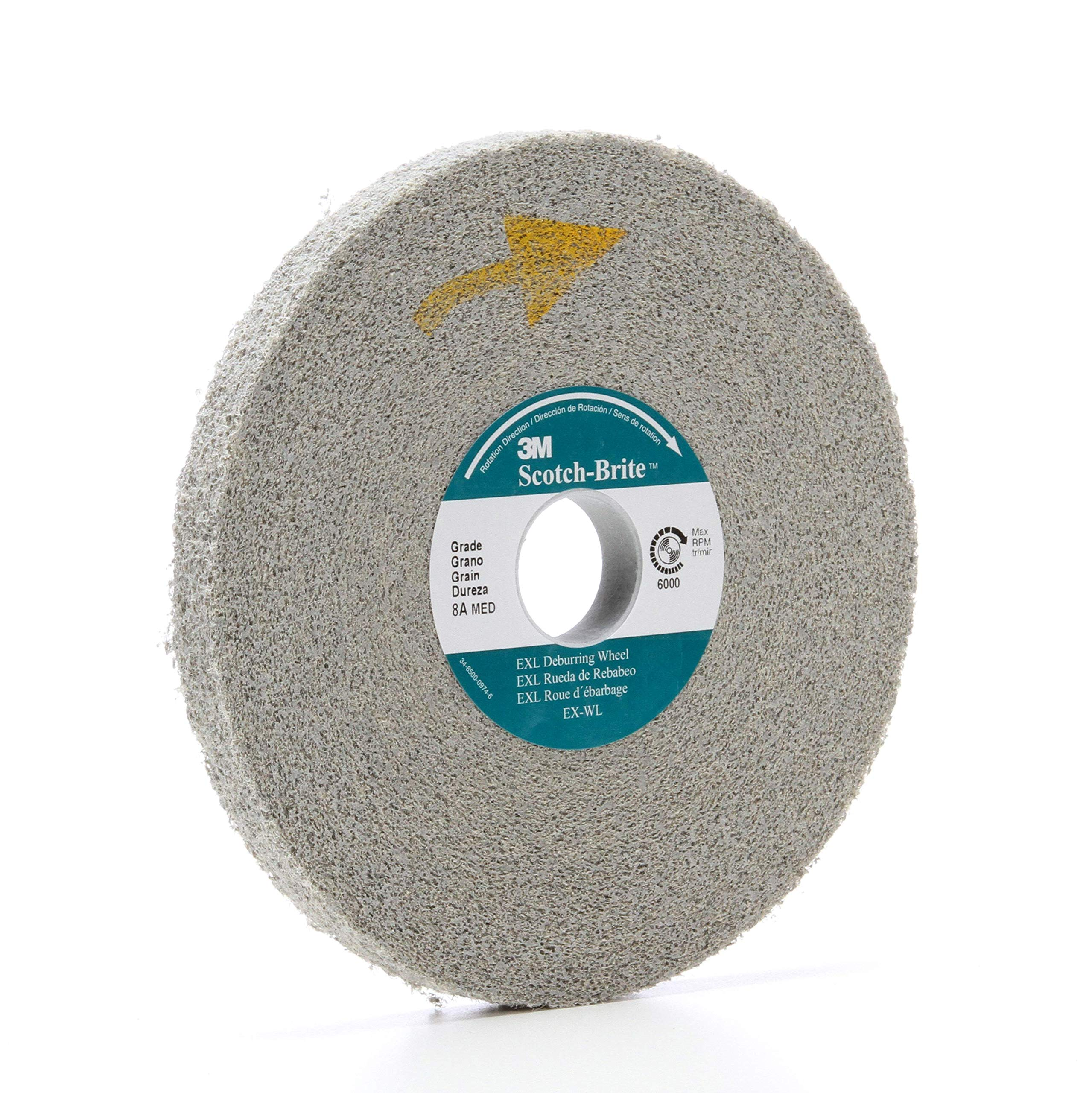 4/PK 3M Scotch-Brite 13616 EXL Deburring Wheel 6 in X 1/2 in X 1 in 8A MED // 7000046060 by APD-Incorporated