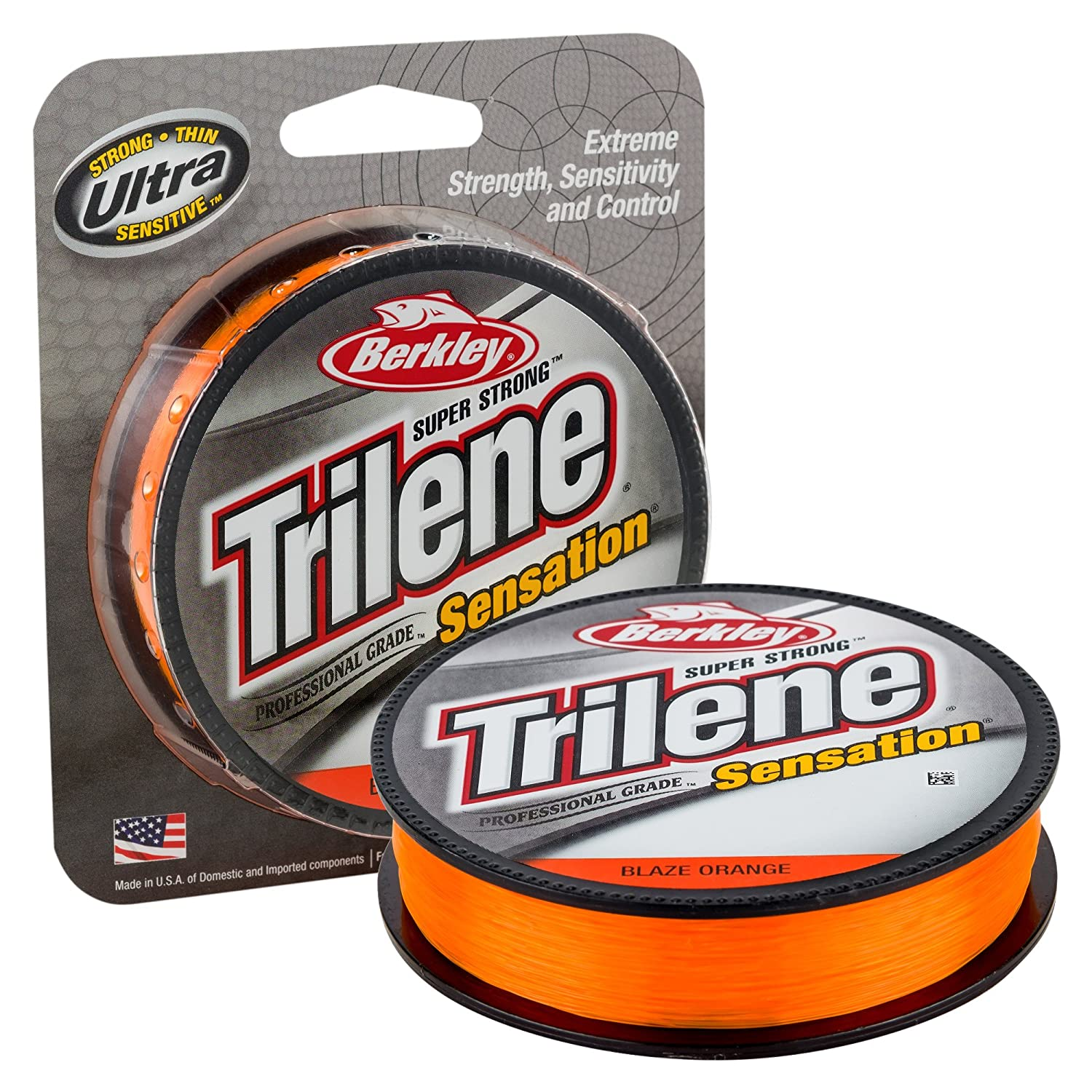 Berkley Snfsn12-80 Trilene Sensation Fishing Bait, Blaze Orange, 330 yd Pure Fishing