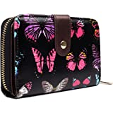 Miss Lulu Designer Oilcloth Floral Spot Polka Dot Butterfly Elephant Horse Folded Zip Wallet Purse Women Clutch