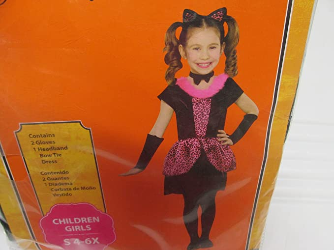 Girls Playful Kitty Halloween Costume Small 4-6X