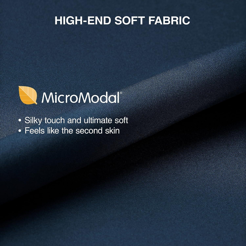 Fitted Bikini for Men 4 Pack Genuwin Mens Micro Modal Bikini Briefs Mens Slip Underwear Classic Low Rise Ultra Soft
