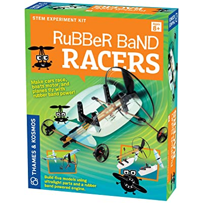 Thames & Kosmos | Rubber Band Racers Kit | Science Kit | Includes Color Education Manual | Science Toy for Kids 8+: Toys & Games