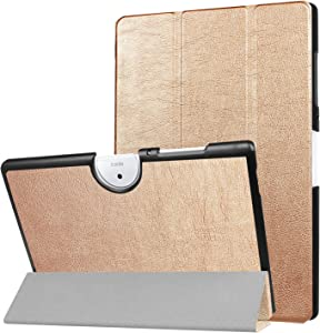 Acer Iconia One 10 B3-A40 Case, Ceavis PU Leather Ultra Slim Smart Stand Case Cover for Acer Iconia One 10 B3-A4010.1-Inch Android Tablet (Gold)