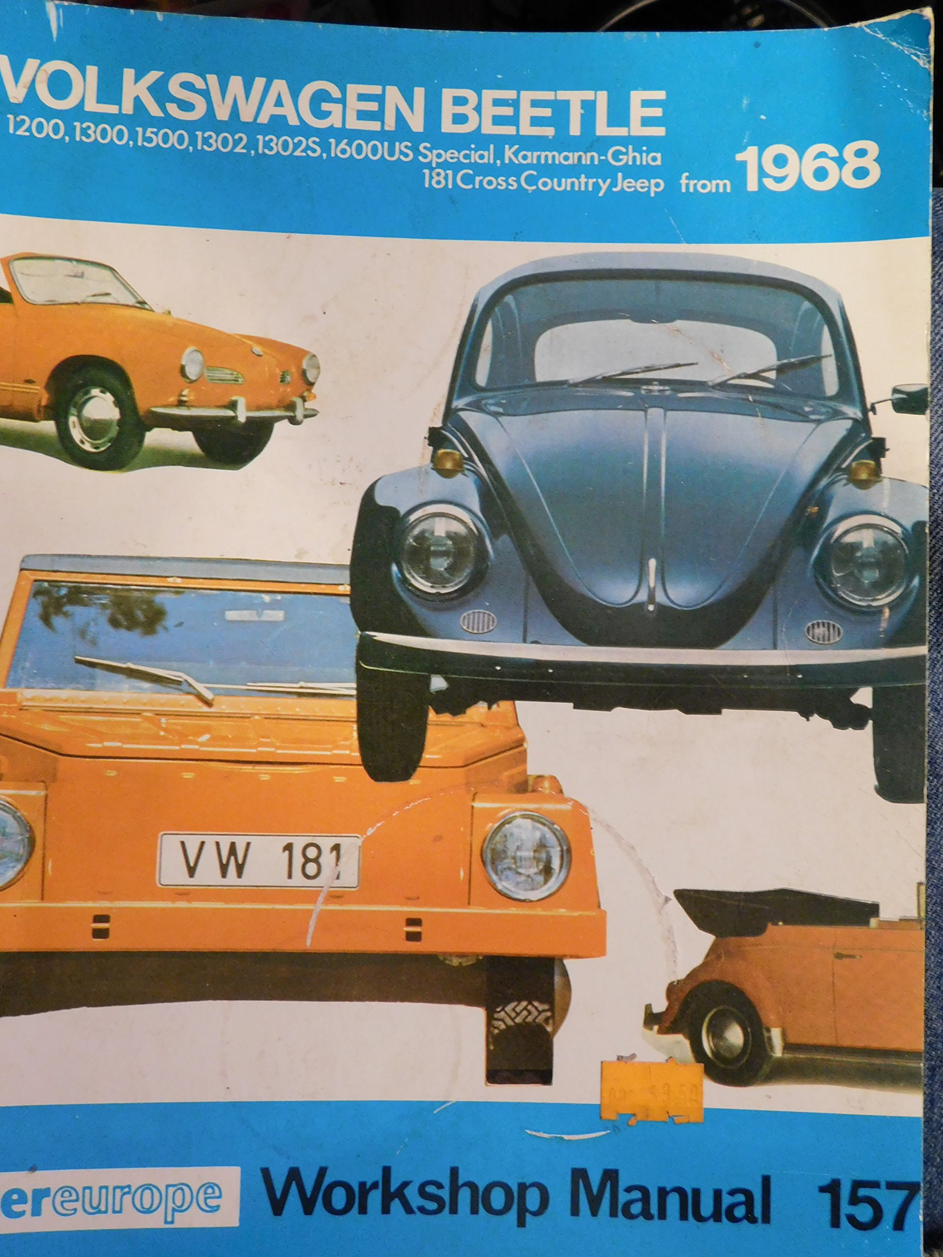 Workshop manual for Volkswagen Beetle: 1200, 1300, 1500 and 1600 c.c.  engine-including Karman Ghia and Type l8l from 1968: Paul Harris:  Amazon.com: Books