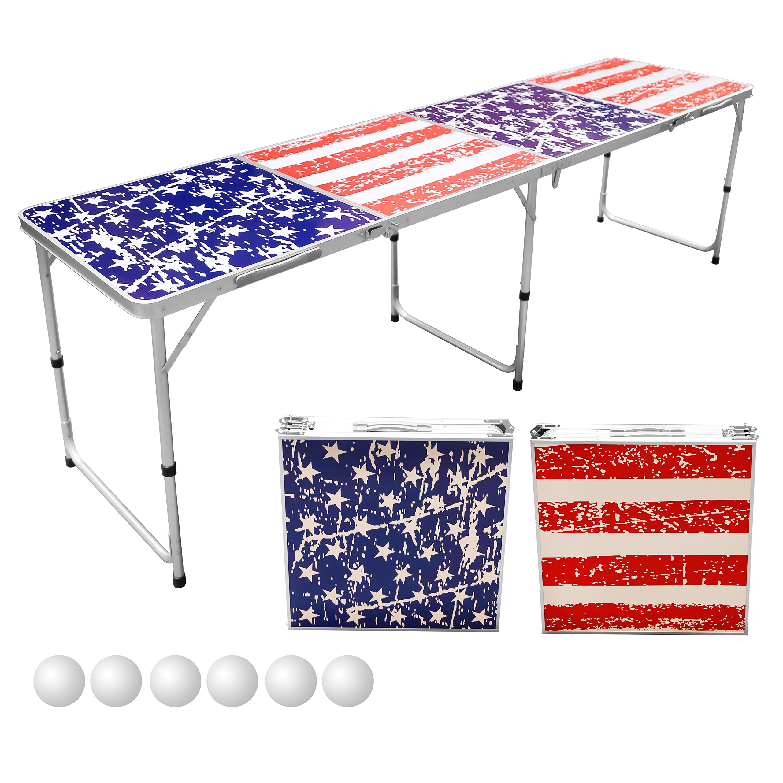 Sports Festival 8-Foot Portable Beer Pong (America Flag) by Unknown