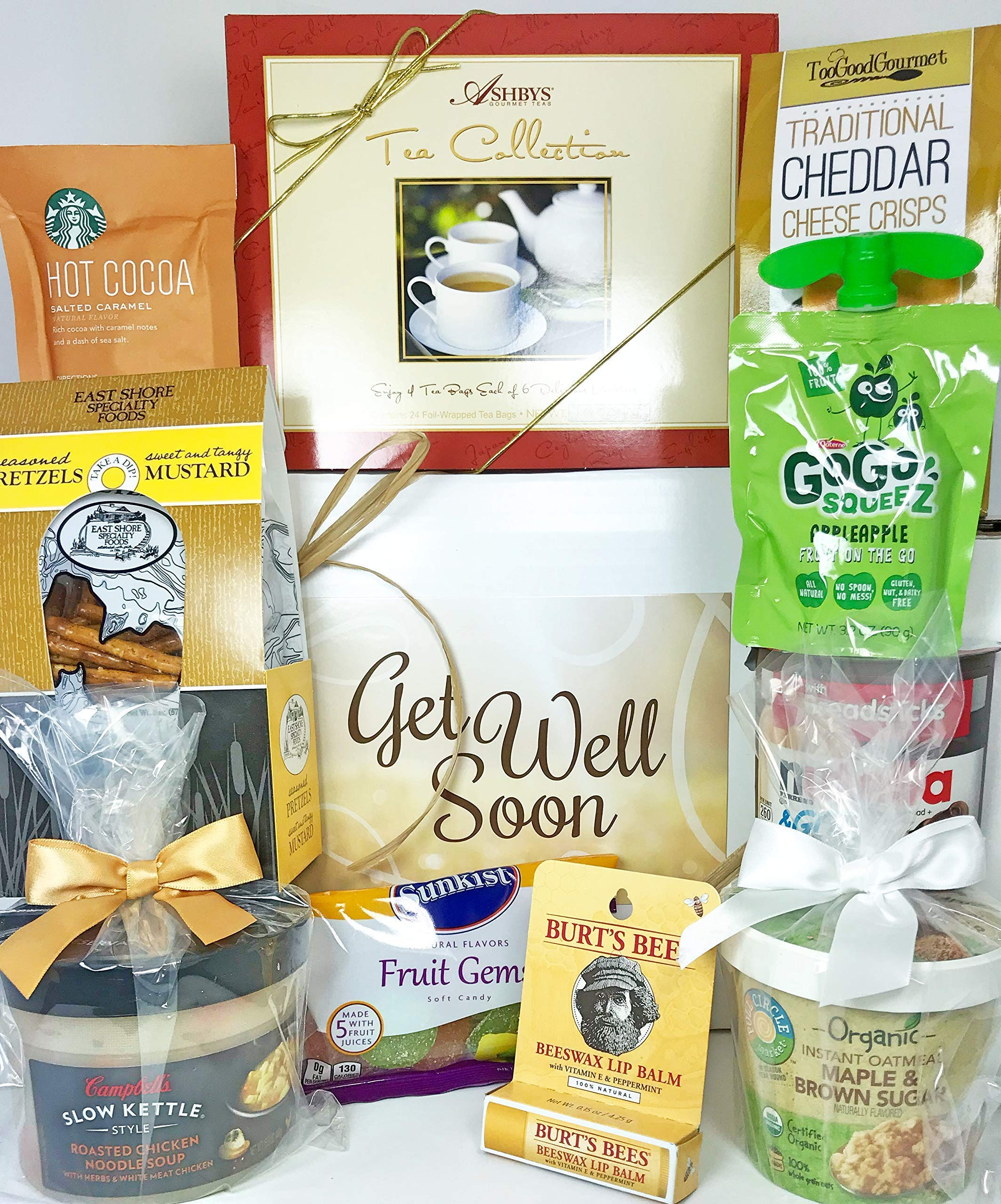 Gourmet Get Well Gift Box Basket - For Cold Flu Illness Surgery Injury- Over 3.5 Pounds of Care, Concern, and Love - Prime Care Package for Men and Women - Send a Smile Today! by Specialty Gift Boxes (Image #1)