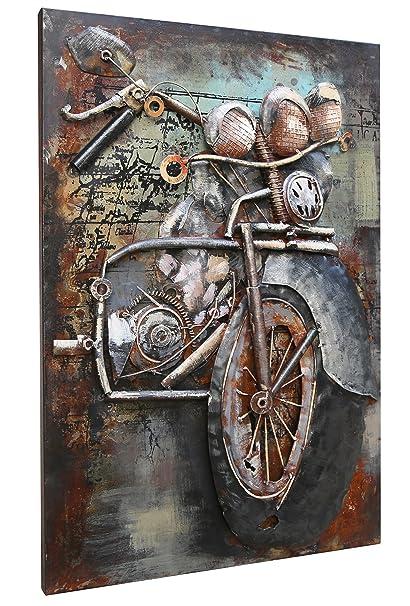 Asmork 3D Metal Art   100% Handmade Metal Unique Wall Art   Stereograph Oil  Painting