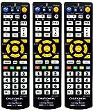 オーディオファン マルチAVリモコン 学習リモコン 手持ちのリモコンよりボタンを登録してからご利用ください ABS素材 3個セット ブラック 日本国内より発送