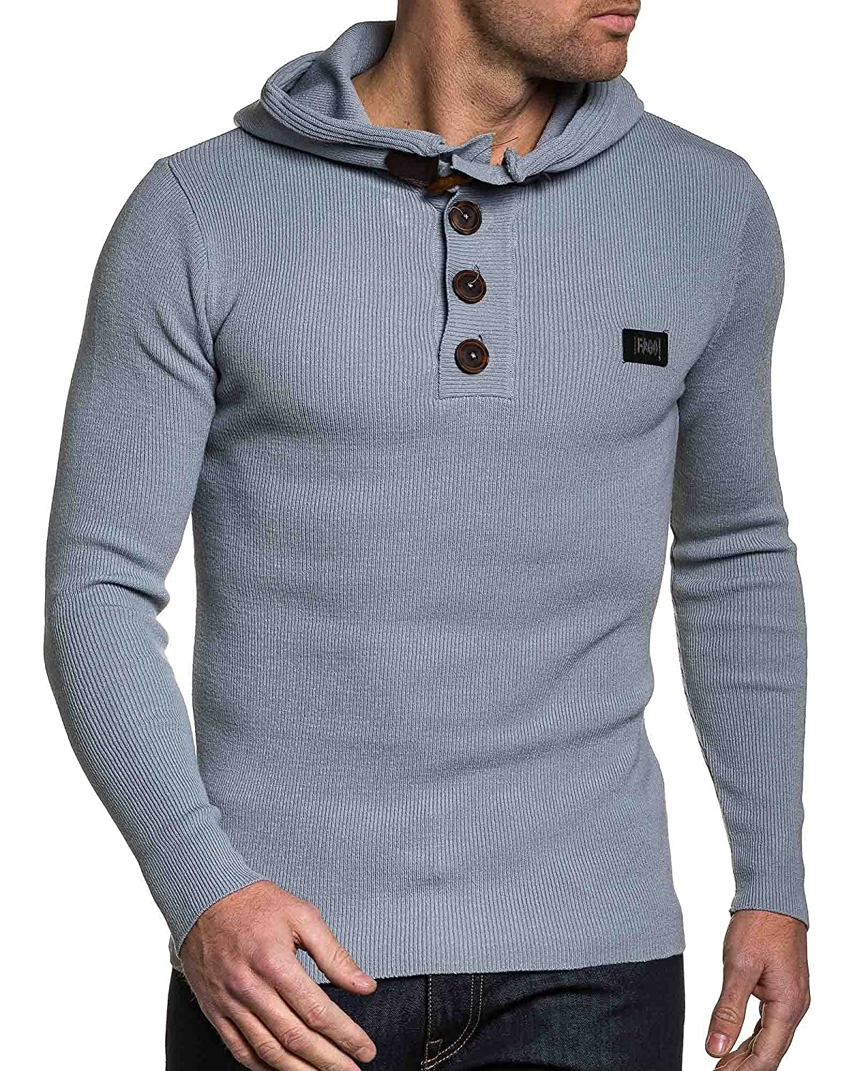 BLZ jeans - Pullover man gray hooded end