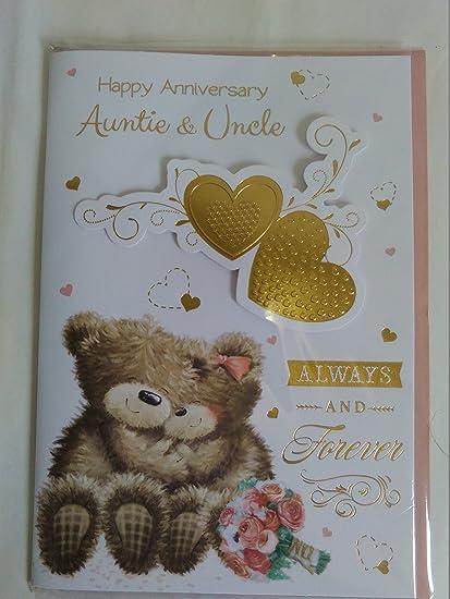 Feliz aniversario tía y tío siempre y para siempre Tarjeta de ...