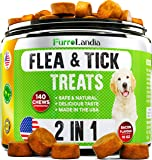 FurroLandia Chewable Flea & Tick Treats for Dogs - Made in USA - 140 Soft Chews - Natural Flea and Tick Repellent for…