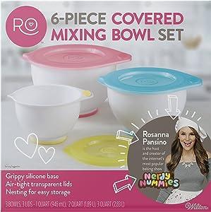 ROSANNA PANSINO by Wilton Mixing Bowl with Lids Set, 6-Piece