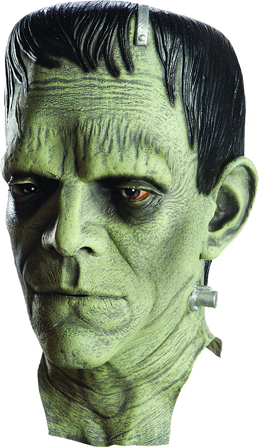 Amazon Com Rubie S Mens Universal Monsters Frankenstein Deluxe Overhead Costume Mask As Shown One Size Us Clothing