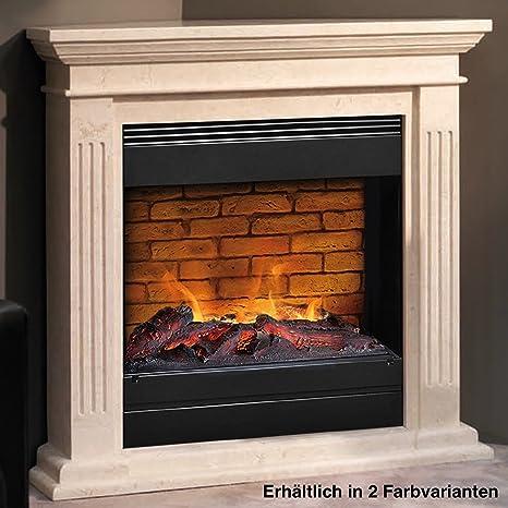 rubyfires Chimenea eléctrica para chimenea esquina Modelo CADIZ Mystic Fire mf1610h decorativo con piedras, Fossil
