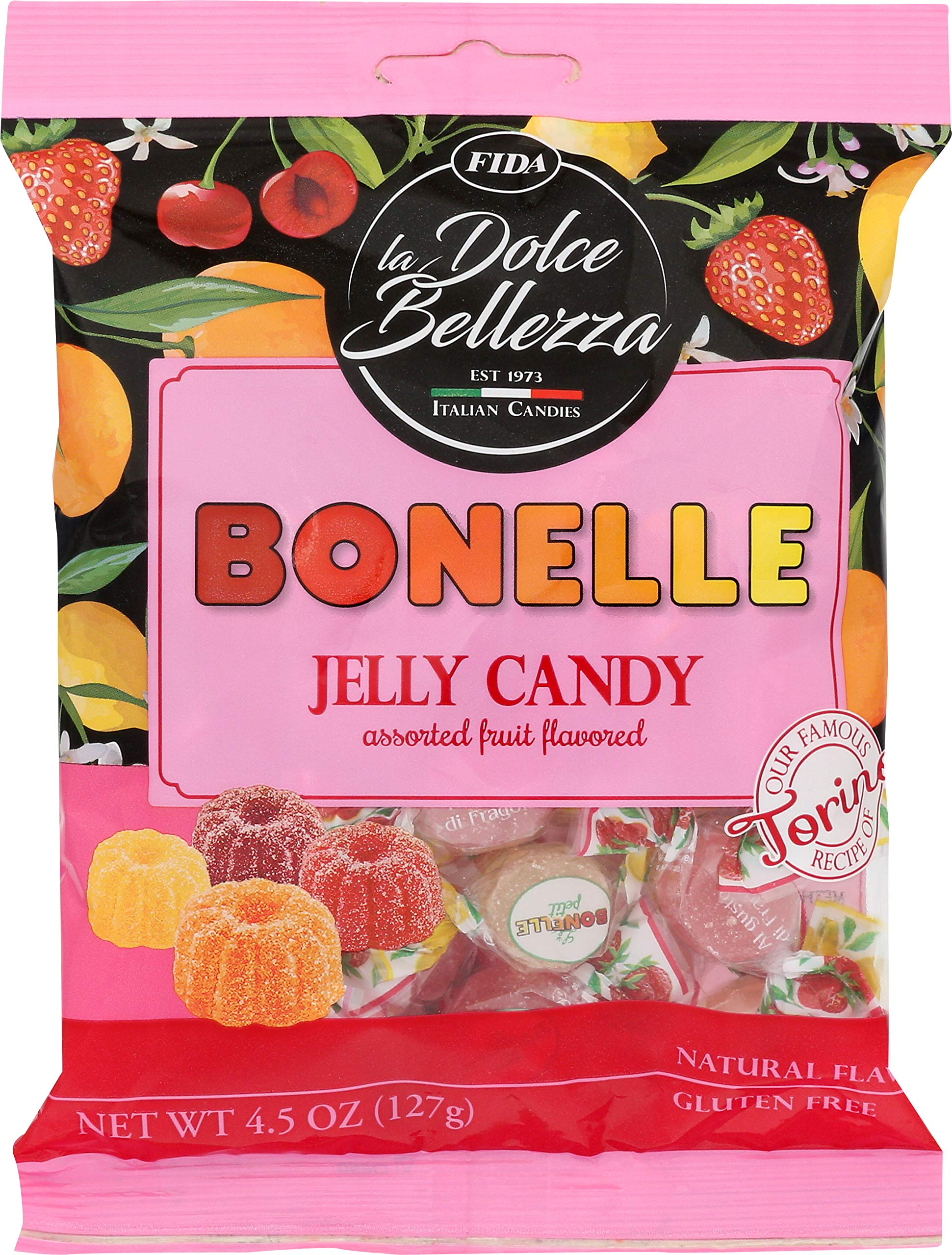 Fida Bonelle Assorted Fruit Flavored Jelly Candy, 4.5 Ounce (Pack of 12) by Fida