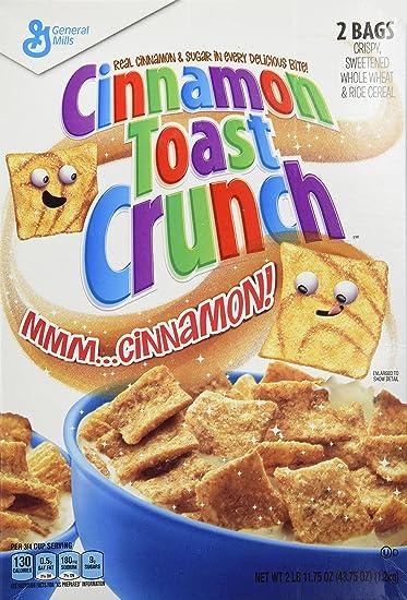 dd595d669f Amazon.com  Cinnamon Toast Crunch Cereal 2 Bags