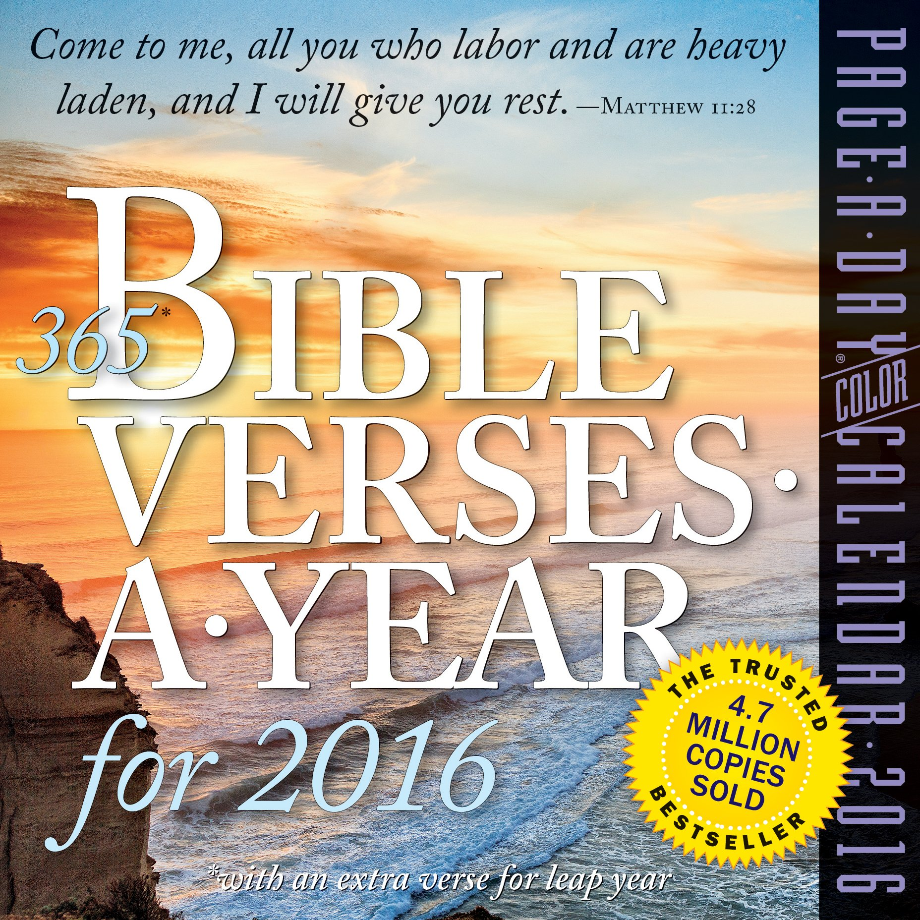 365 Bible Verses-A-Year Color Page-A-Day Calendar 2016: Workman ...