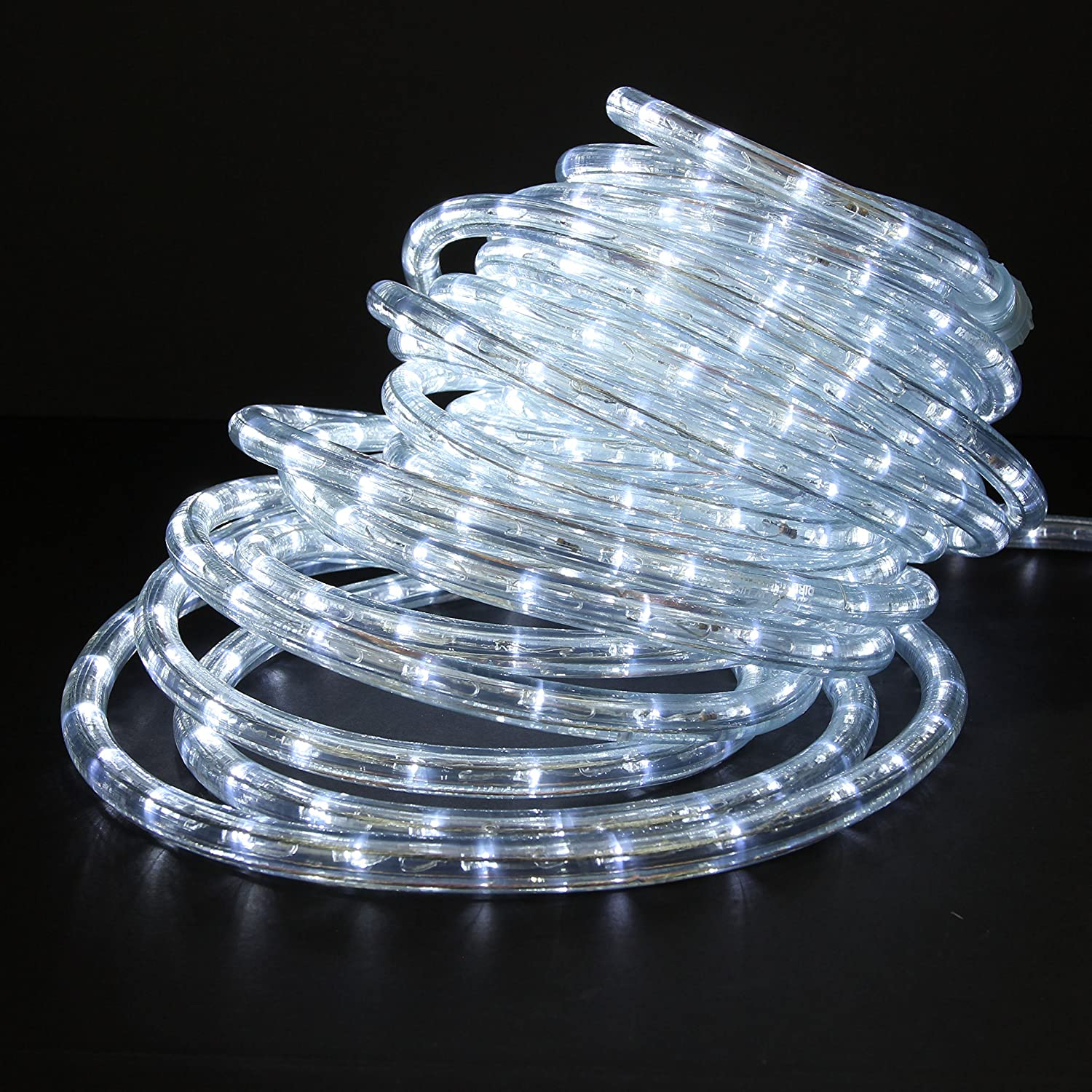 Amazon 50ft 120v cool white super bright led rope light amazon 50ft 120v cool white super bright led rope light direct lighting heavy duty pvc clear rope lights tube 12 expandable to 200 ft mozeypictures Choice Image