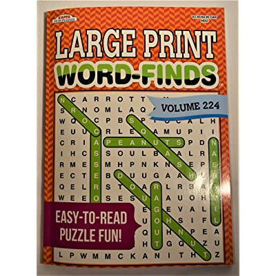 Kappa Publication 3842 Large Print Word-Finds Assorted Volumes: Toys & Games [5Bkhe1803430]