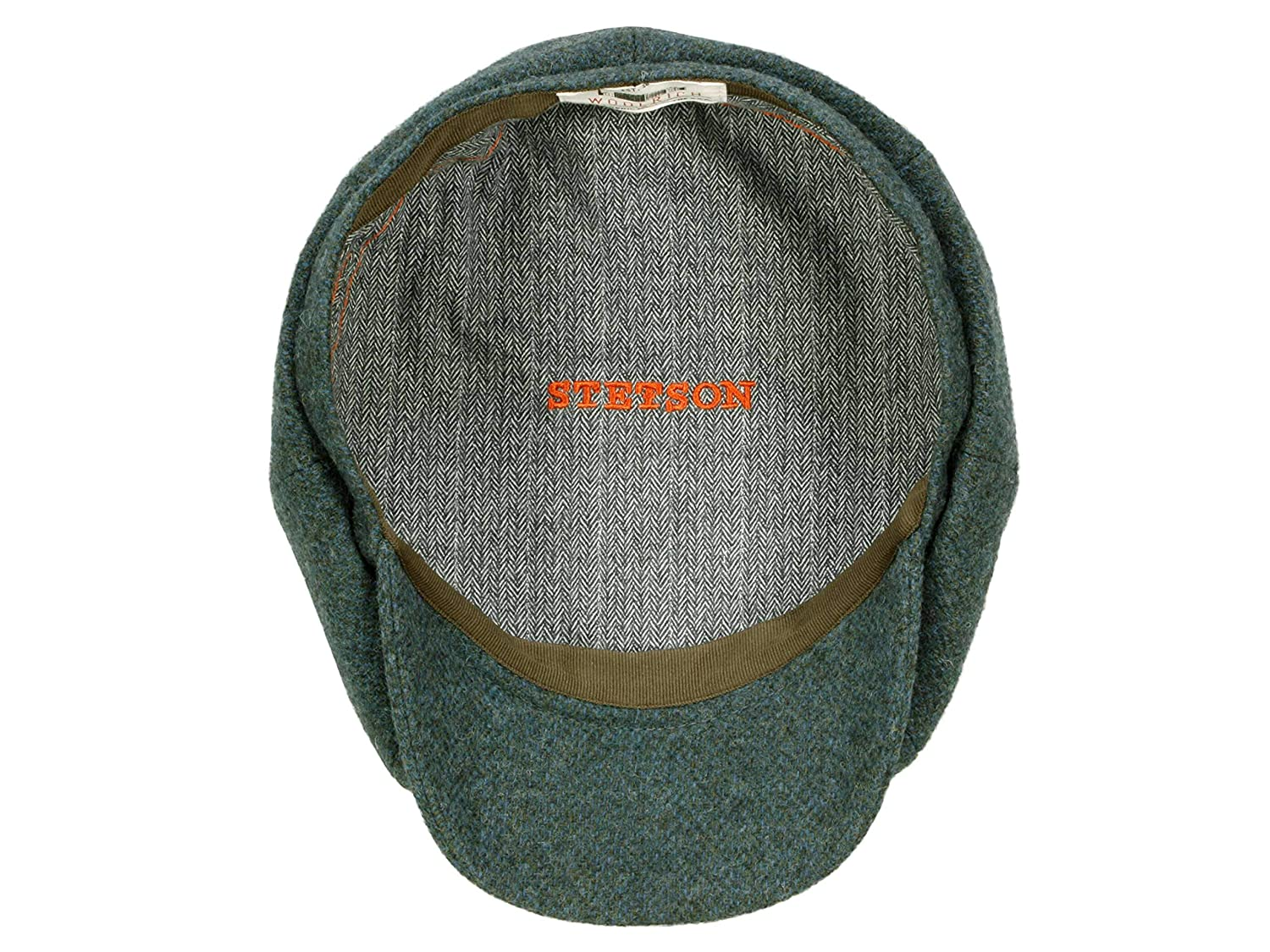 Stetson Casquette Hatteras Woolrich Homme Made in The EU Casquettes Gavroche Type avec Visiere Doublure Automne-Hiver Doublure
