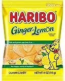 Haribo Gummi Candy, Ginger-Lemon, 4 oz. Bag (Pack of 12)