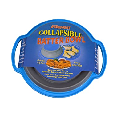 The Original Collapsible Breading Batter Bowl - Mess-Free Breading, Coating, Sauces - Home or Camp Kitchens - Collapses Flat for Easy Storage