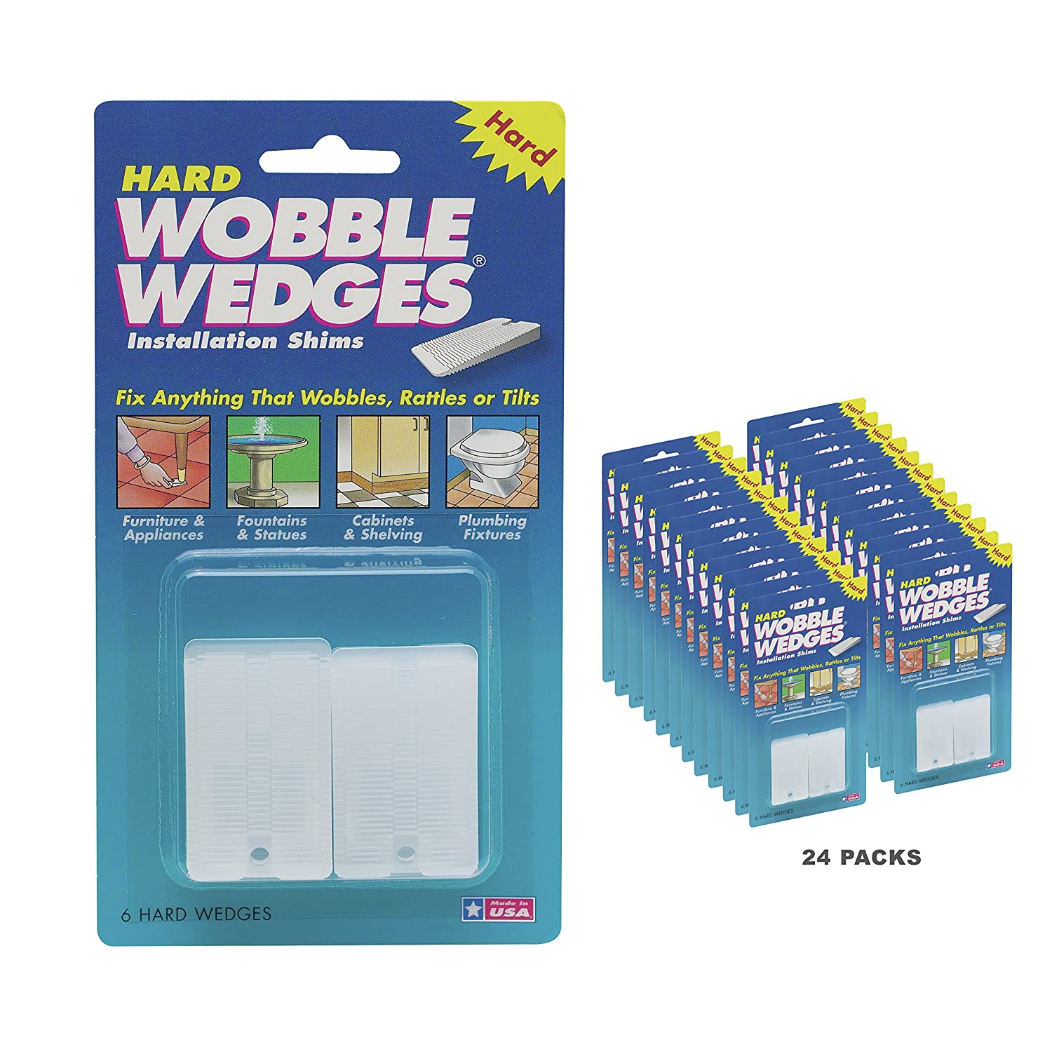 Wobble Wedges 1990 24 Leveling Shims 144 Pieces Clear