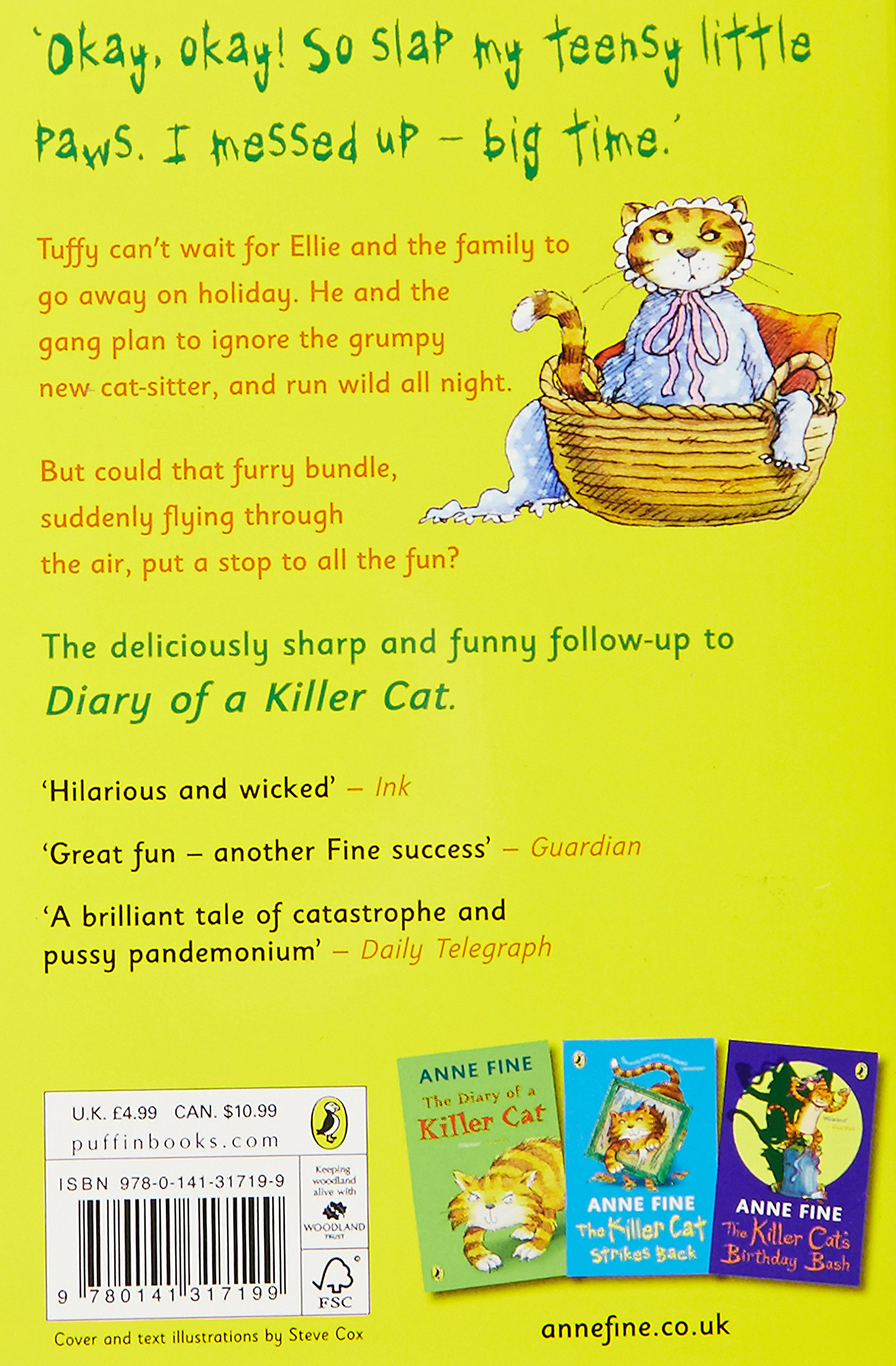 Return Of The Killer Cat, The: Anne Fine: 9780141317199: Amazon: Books