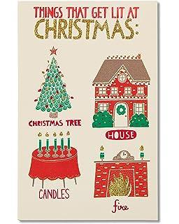 Amazon.com: Peg Leg calcetines Navidad Funny tarjeta de ...