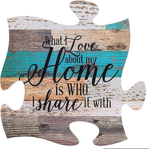 Amazon.com: Cartel de madera para pared multicolor con forma ...