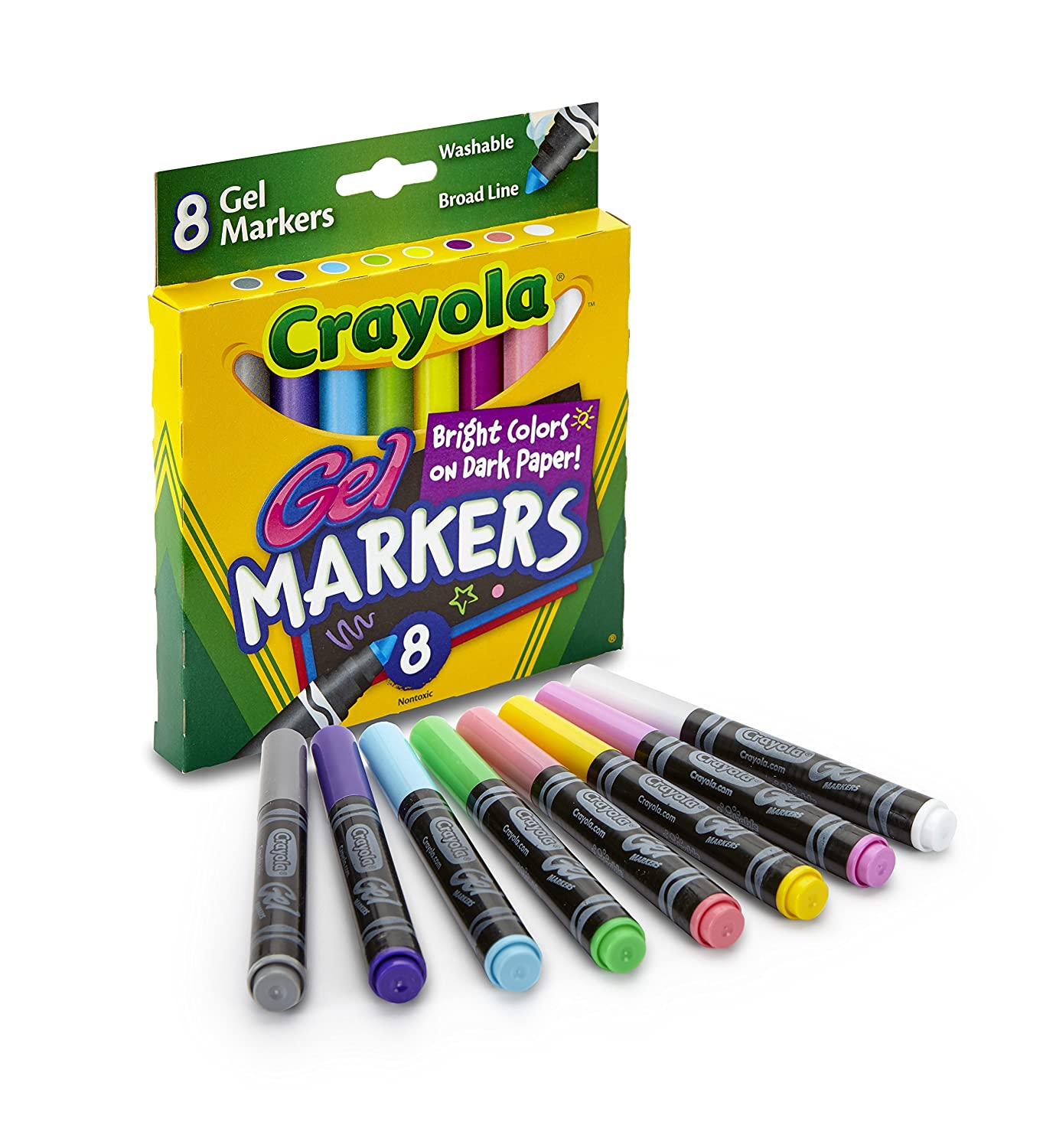Amazon.com: Crayola 8 Count Gel FX Washable Markers: Toys & Games