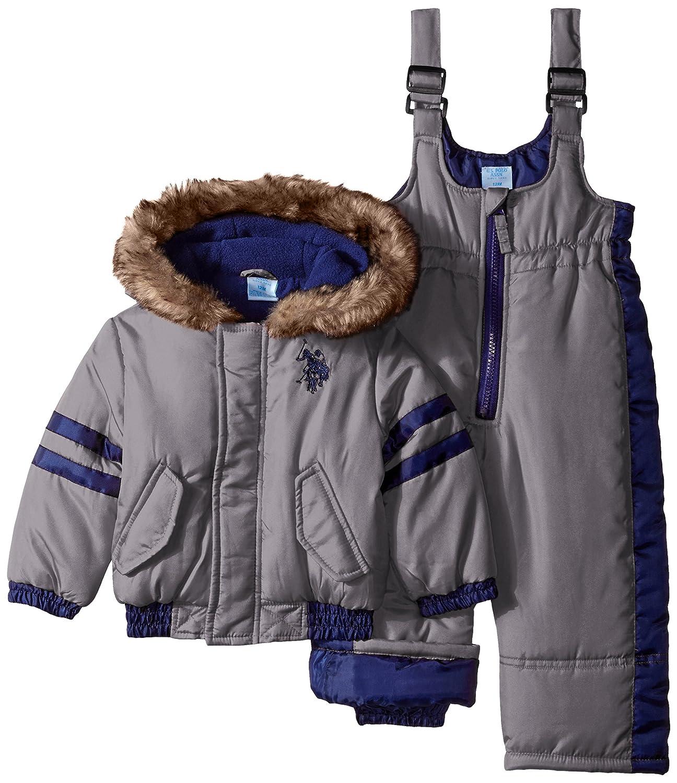 573b75183ac3 Amazon.com  U.S. Polo Assn. Baby Boys  Polyfilled Puffer Snowsuit ...