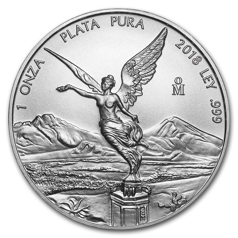 2018 MX Mexico 1 oz Silver Libertad BU 1 OZ Brilliant Uncirculated