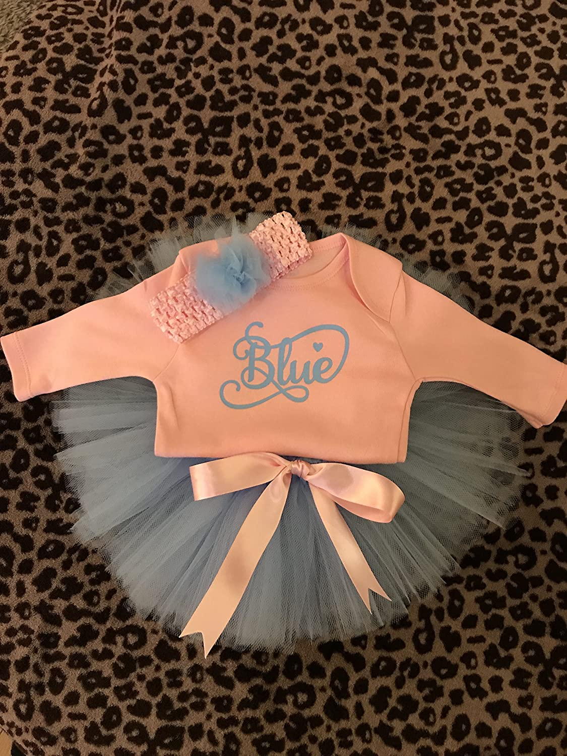 fa5b1e0ca Baby girl tutu and matching headband with personalised vest