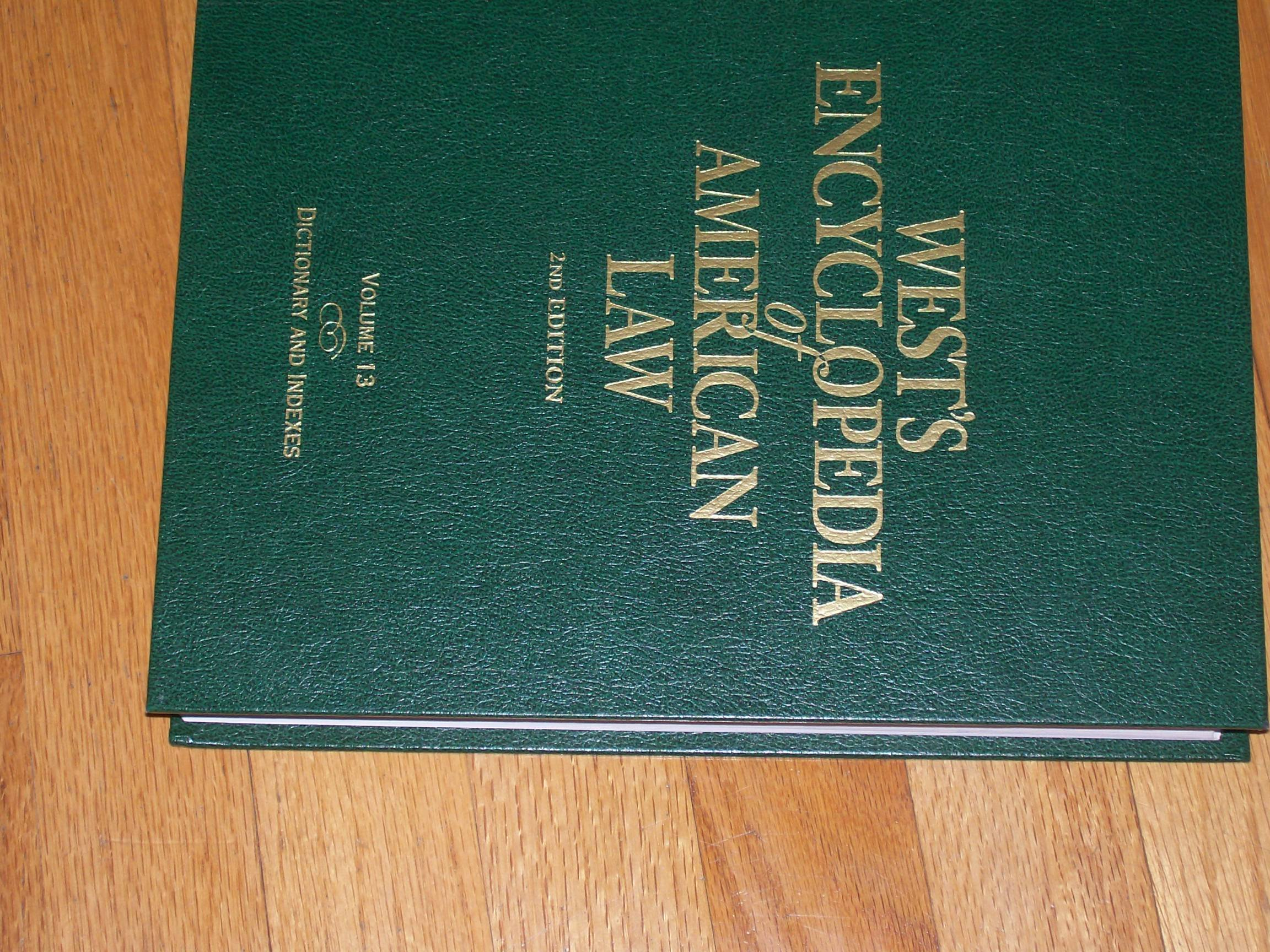 Read Online West's Encyclopedia of American Law (2nd Edition) Volume 13 (Dictionary and Indexes) Text fb2 ebook