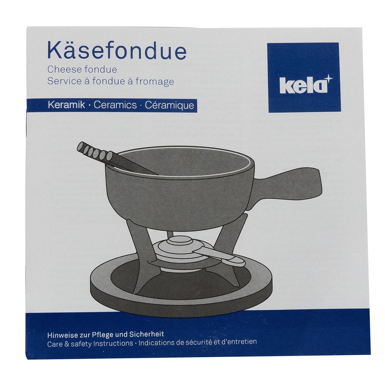 16663 Kela K/äsefondue-Set Feuerfeste Keramik Arosa 5-teilig. 0,8 L Creme