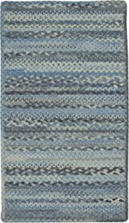 "product image for Harborview Blue 0' 24"" x 8' 0"" Runner Cross Sewn Rectangle Braided Rug"