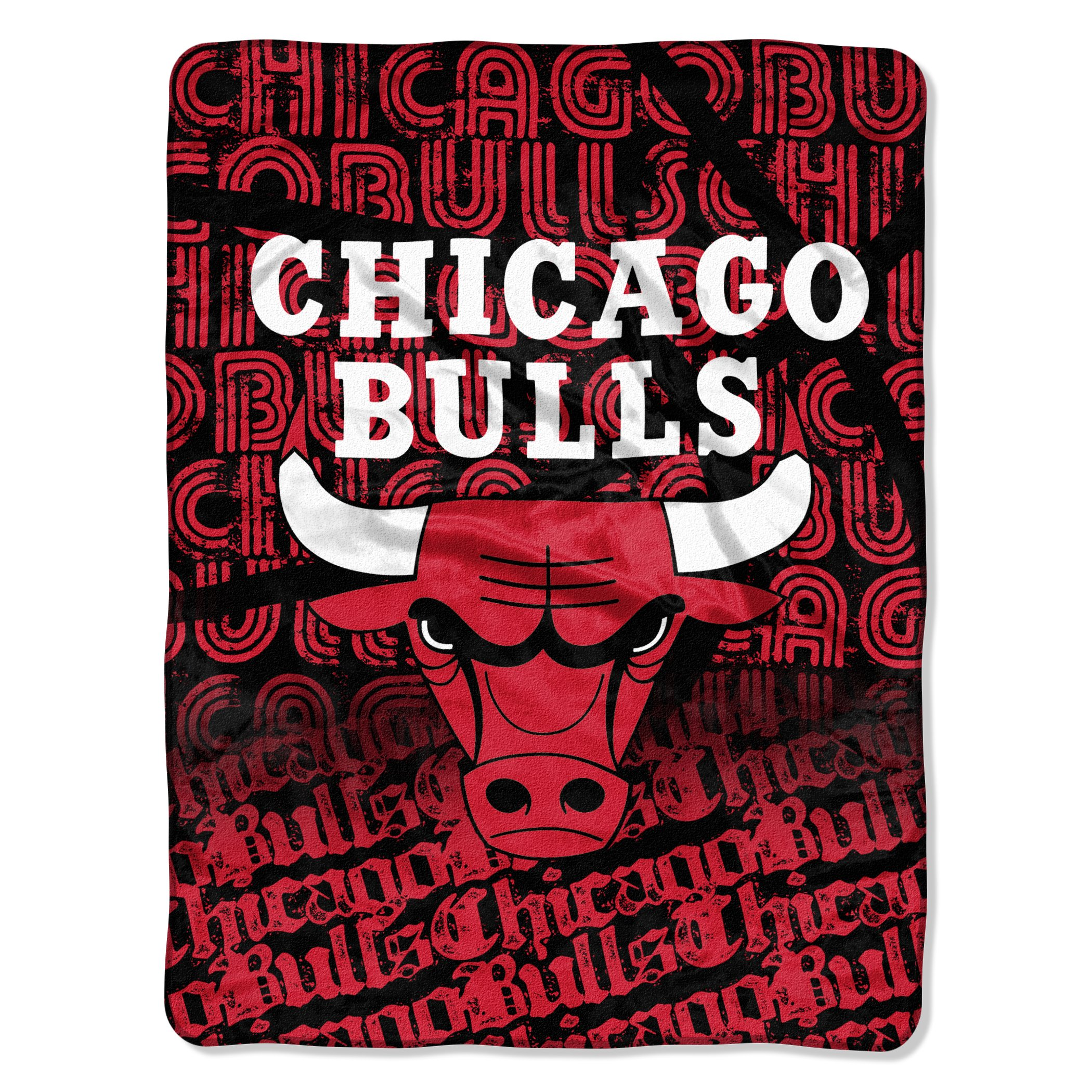The Northwest Company Officially Licensed NBA Chicago Bulls Redux Micro Raschel Throw Blanket, 46'' x 60''